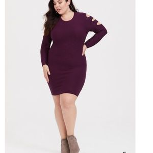 Torrid Purple Cut Out Dress 1x